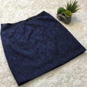 Forever 21 Navy Lace Mini Skirt
